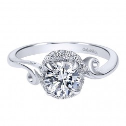 Gabriel 14 Karat Contemporary Engagement Ring ER10449W44JJ