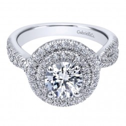 Gabriel 14 Karat Contemporary Engagement Ring ER10492W44JJ