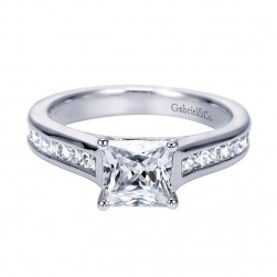 Gabriel 14 Karat Contemporary Engagement Ring ER7897W44JJ