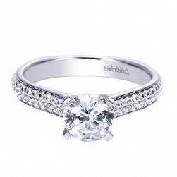 Gabriel 14 Karat Contemporary Engagement Ring ER8178W44JJ