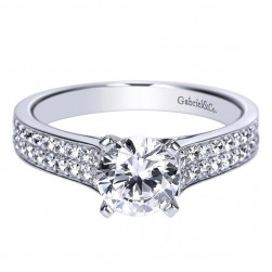 Gabriel 14 Karat Contemporary Engagement Ring ER8948W44JJ