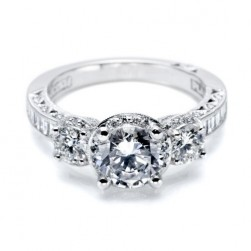 Tacori Crescent Platinum Engagement Ring HT2532SM12X