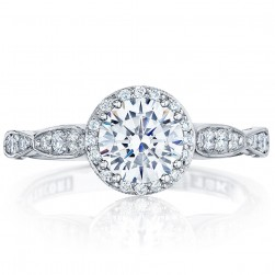 39-2RD6 Platinum Tacori Dantela Engagement Ring
