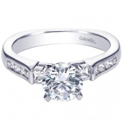 Gabriel 14 Karat Contemporary Engagement Ring ER3994W44JJ