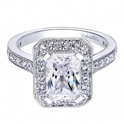 Gabriel 14 Karat Contemporary Engagement Ring ER9335W44JJ