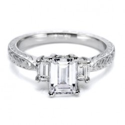 Tacori 18 Karat Hand Engraved Engagement Ring HT2199