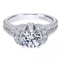 Gabriel 14 Karat Contemporary Engagement Ring ER10488W44JJ