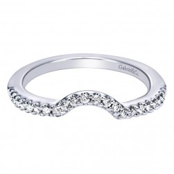 Gabriel 14 Karat Contemporary Wedding Band WB6008W44JJ