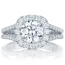 HT2548CU75 Platinum Tacori Petite Crescent Engagement Ring