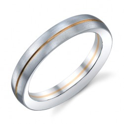 274154 Christian Bauer 14 Karat & Platinum Wedding Ring / Band