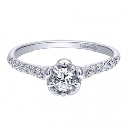 Gabriel 14 Karat Contemporary Engagement Ring ER910160W44JJ