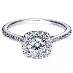 Gabriel 14 Karat Contemporary Engagement Ring ER98635W44JJ