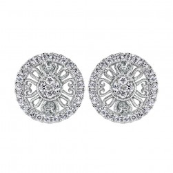 Gabriel Fashion 14 Karat Lace Stud Earrings EG11682W45JJ