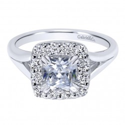 Gabriel 14 Karat Contemporary Engagement Ring ER10930W44JJ
