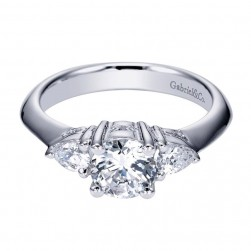 Gabriel 14 Karat Contemporary Engagement Ring ER3819W44JJ