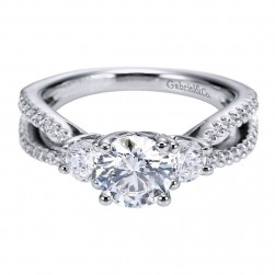 Gabriel 14 Karat Contemporary Engagement Ring ER5842W44JJ