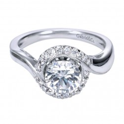 Gabriel 14 Karat Contemporary Engagement Ring ER7714W44JJ