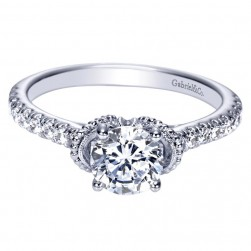 Gabriel 14 Karat Contemporary Engagement Ring ER8611W44JJ