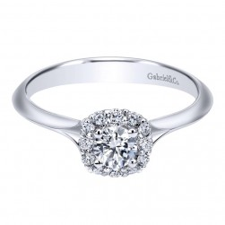 Gabriel 14 Karat Contemporary Engagement Ring ER911730R0W44JJ