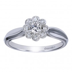 Gabriel 14 Karat Contemporary Engagement Ring ER98421W44JJ