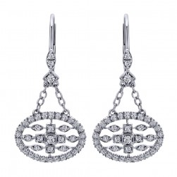 Gabriel Fashion 14 Karat Victorian Leverback Earrings EG12651W45JJ