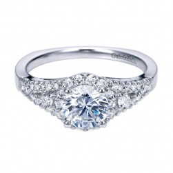 Gabriel 14 Karat Contemporary Engagement Ring ER6548W44JJ