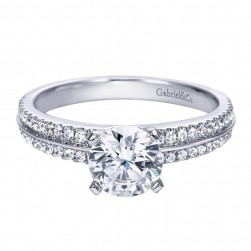 Gabriel 14 Karat Contemporary Engagement Ring ER8002W44JJ