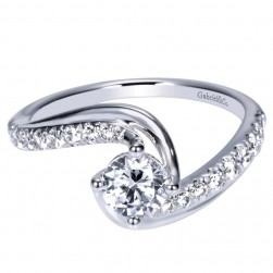 Gabriel 14 Karat Contemporary Engagement Ring ER9073W44JJ