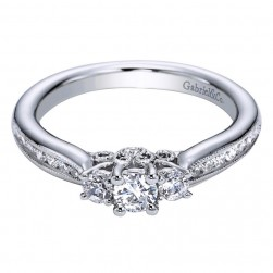 Gabriel 14 Karat Contemporary Engagement Ring ER95956W44JJ