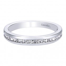 Gabriel 14 Karat Contemporary Wedding Band WB9684W44JJ