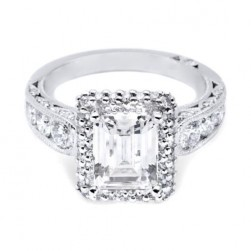 HT2521EC85X65 Tacori Crescent 18 Karat Engagement Ring