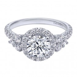 Gabriel 14 Karat Contemporary Engagement Ring ER10178W44JJ