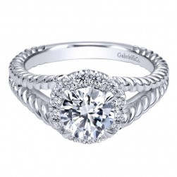 Gabriel 14 Karat Contemporary Engagement Ring ER10194W44JJ