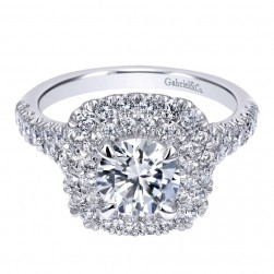 Gabriel 14 Karat Contemporary Engagement Ring ER10754W44JJ