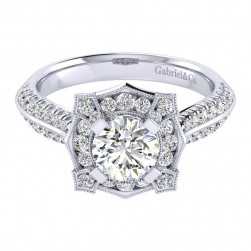 Gabriel 14 Karat Perfect Match Engagement Ring ER002B4ADW44JJ