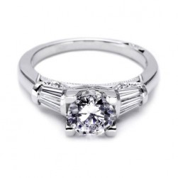 Tacori Platinum Simply Tacori Solitaire Engagement Ring 2581RD7