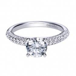 Gabriel 14 Karat Contemporary Engagement Ring ER4017W44JJ