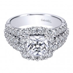 Gabriel 14 Karat Contemporary Engagement Ring ER8906W44JJ