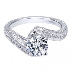 Gabriel 14 Karat Contemporary Engagement Ring ER10454W44JJ