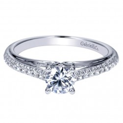 Gabriel 14 Karat Contemporary Engagement Ring ER98556W44JJ