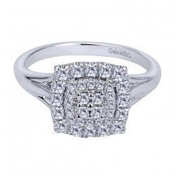 Gabriel Fashion 14 Karat Clustered Diamonds Ladies' Ring LR50252W45JJ