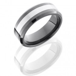 Lashbrook TCR8335 Polish Ceramic Wedding Ring or Band