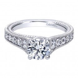 Gabriel 14 Karat Contemporary Engagement Ring ER10112W44JJ