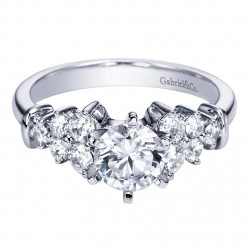 Gabriel 14 Karat Contemporary Engagement Ring ER2751W44JJ