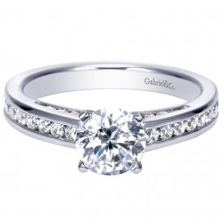 Gabriel 14 Karat Contemporary Engagement Ring ER7888W44JJ