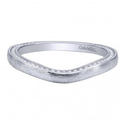 Gabriel 14 Karat Contemporary Wedding Band WB10916W4JJJ