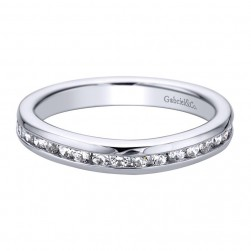 Gabriel 14 Karat Contemporary Wedding Band WB9351W44JJ