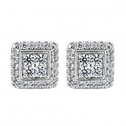 Gabriel Fashion 14 Karat Clustered Diamonds Stud Earrings EG11739W44JJ
