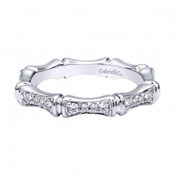 Gabriel Fashion 14 Karat Stackable Stackable Ladies' Ring LR4578W44JJ