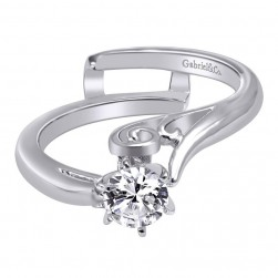 Gabriel 14 Karat Contemporary Engagement Ring ER10949W4JJJ